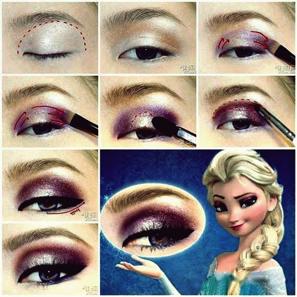 DIY Disneys Frozen Elsa Eyeshadow