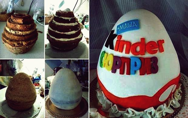 DIY Kinder Egg Shaped Cake