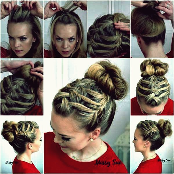 Wie DIY Double Waterfall Triple Französisch Braid Frisur