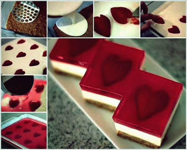 Wie DIY Yummy Strawberry Jelly Hearts Cheesecake